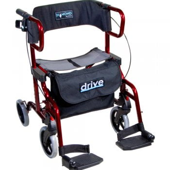 Drive Medical Diamond Deluxe 2 in 1 Walking Rollator
